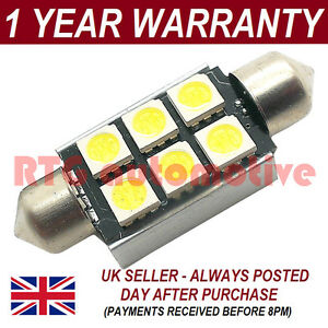 1X-RED-CANBUS-NUMBER-PLATE-INTERIOR-SMD-LED-BULB-30-36-39-42-44MM-FESTOON-OC