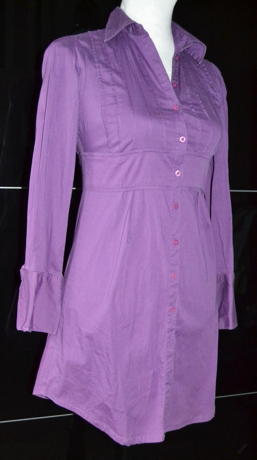 FLASH LIGHTS Damen Mädchen Hemdkleid Stretch Kleid lila 36 wie Neu