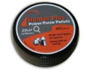 PKT 200 HUNTER PLUS POWER-FORCE PELLETS .22 Air Gun Rifle Pistol Ammunition MT