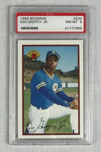1989 Bowman Ken Griffey Jr. #220 Baseball Card NM-MINT - PSA 8