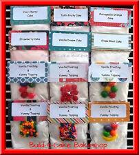 EASY BAKE OVEN Mixes 12 Homemade Cake & Frosting Mixes / 72 Mini Cupcakes