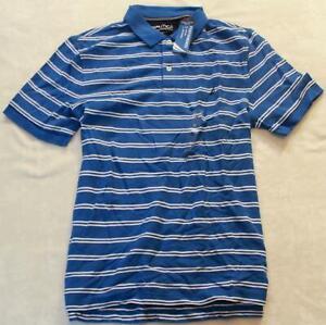 XXL Nautica Men's Short Sleeve Polo Shirt Blue Size W@W NWT