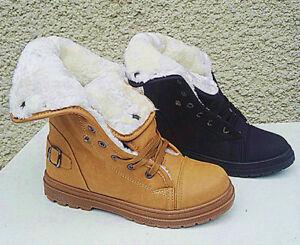 1449ecfb2fc6e BASKETS FEMME MONTANTES BOTTINE FOURRURE fourrée FILLE chaud boots ...