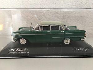 Minichamps-430040007-Opel-Kapitaen-P2-59-039-1-43-Ozeangruen-Alabastergrau-Modellauto