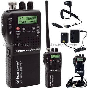 Details about Midland 75-822 Portable Handheld CB Radio Home Adapter AC DC  NOAA Hazard Weather
