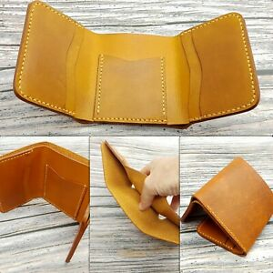 Leather-TriFold-Wallet-Mens-Handcrafted-Wallet-Leather-Cash-Card-Wallet