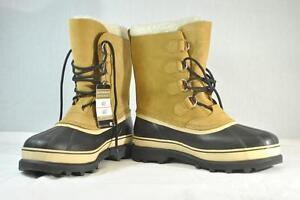 Sorel-Men-039-s-NM-1000-281-Waterproof-Caribou-Boots-Buff-Sz-8-New