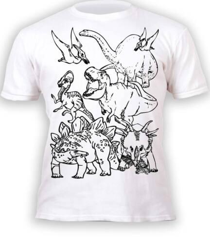 Splat Planet Colour In T-Shirt Children Boys Superhero Football Dinosaur Cars
