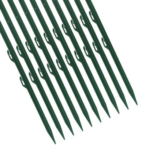Weidezaunpfahl grün 10 x Ellofence Plastik Pfosten Zaunbau Gartenpfahl