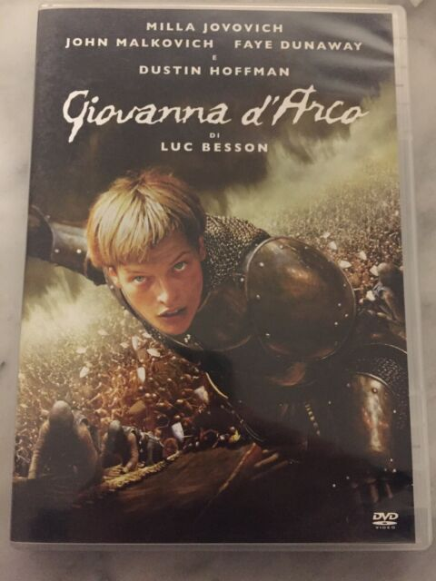 "DVD ""Giovanna d'Arco"" Luc Besson, Nulla Jovovich, Dustin Hoffman OTTIMO (1998)"