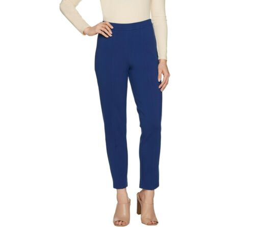 Joan Rivers Regular Signature Ankle Pants with Front Seam Detail Small Size QVC