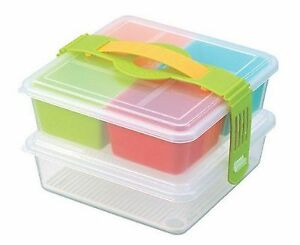 japanese lunch bento box two tiers made in japan 3943 s 1823 ebay. Black Bedroom Furniture Sets. Home Design Ideas
