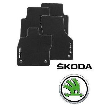 New Genuine Skoda Superb II Textile Standard Floor Carpet Mat Mats 3T2061404A
