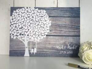 Alternative Wedding Guest Book.Details About Wedding Guest Book Alternative Guestbook Rustic Tree Guest Board Wood Effect