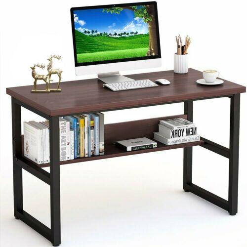 Computer Desk Home Office Furniture Desk Pc Laptop Table Wood Workstation Study
