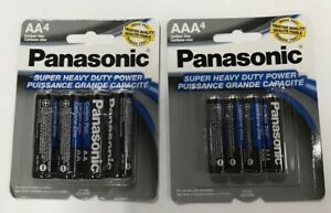 100  AA & 100  AAA Panasonic Batteries Heavy Duty 1.5v Wholesale Bulk Pack