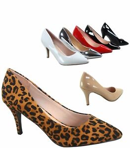 Women-039-s-Sexy-Slip-On-Classic-Pointed-Toe-Patent-Pump-Heels-Shoes-Size-5-10-NEW