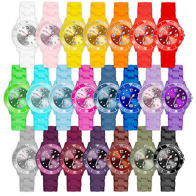 Silikon Uhr Herren Big Trend Gummi Watch Damen Armbanduhr Bunte Mini Kinderuhr