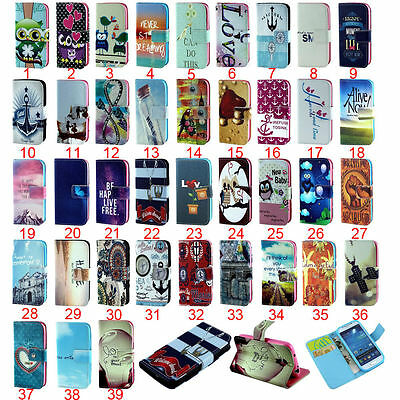 New Cartoon Flower wallet Leather stand flip cover case for LG