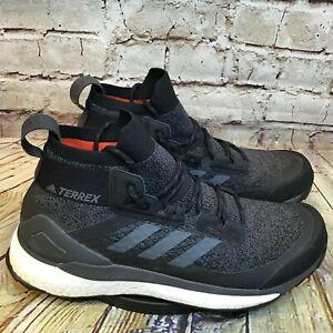 adidas-Terrex-Free-Hiker-Mens-Black-Mid-Continental-Tread-Hiking-Shoes-Size-9-5
