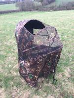 Pigeon Shooting Open Top Hide Tent Blind Chair Mesh Net Shooting Camo Pop Up