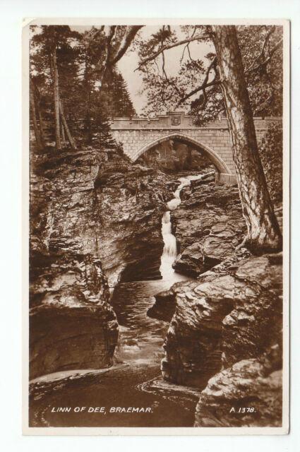 Linn Of Dee Waterfall & Bridge Braemar 1934 Real Photograph Bowden Cyril Road