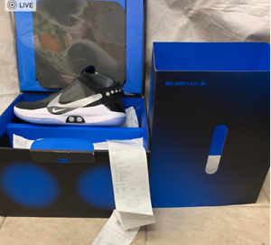 Nike-Adapt-BB-Black-pure-Platinum-US-Charger-A02582-001-Size-10-12