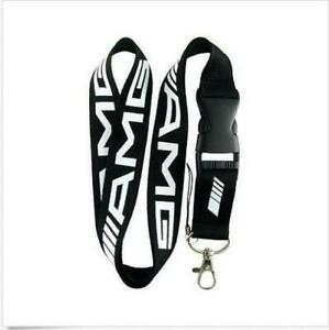 Sports-Car-Black-White-Lanyard-NEW-UK-Seller-Keyring-ID-Holder-Strap