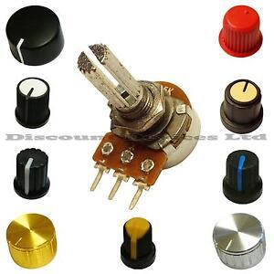 Single Mono100K ohm lin Linear Log Logarithmic Switch Pot Potentiometer And Knob Firma i Przemysł