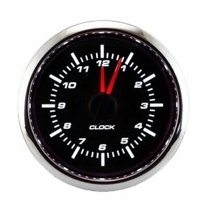 52mm Blue LED Backlight Electronic Boost Gauge White Face with Stainless Rim