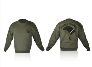 Paracadutisti Girocollo Italiani Verde Militare Maglia Felpa qPgzFEnw