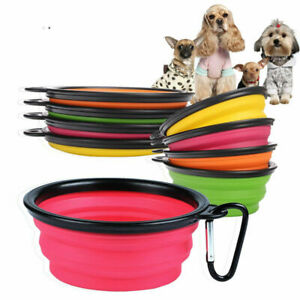 Travel-Collapsible-Foldable-Pet-Dog-Bowl-Food-Water-Bowls-Dish-Toy-Flyer-Frisbee