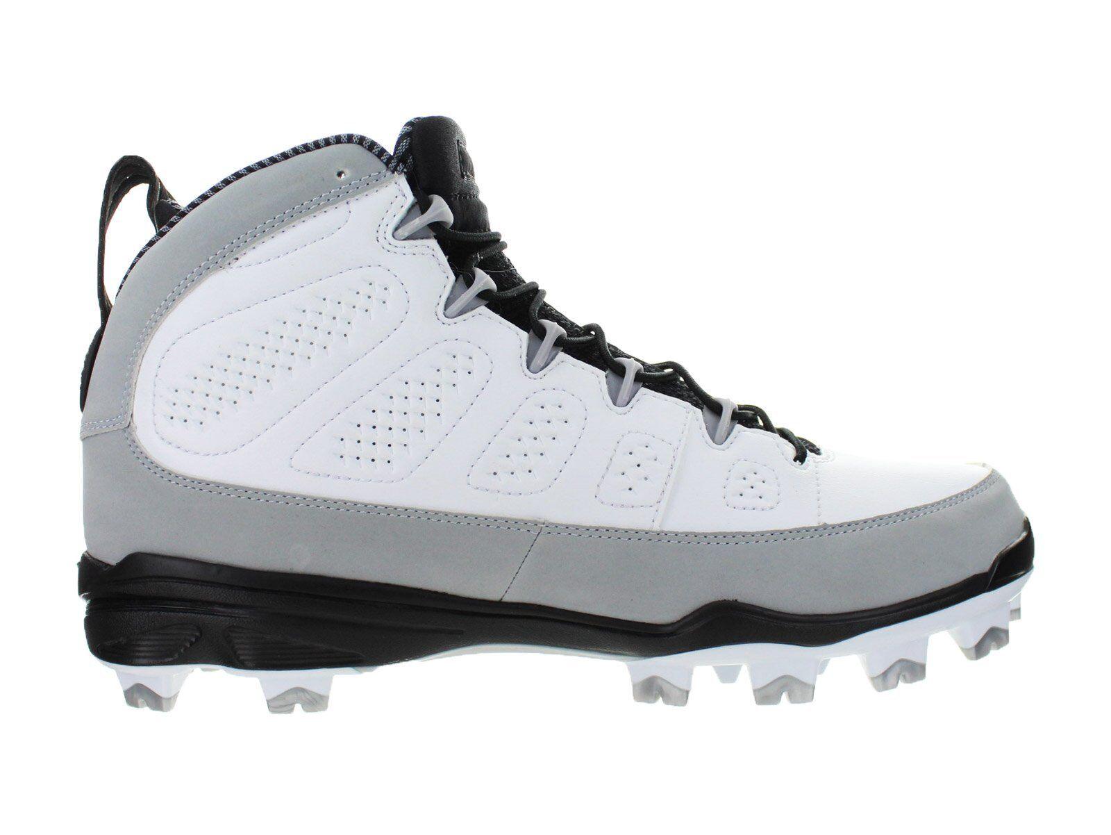Air Jordan 9 Retro MCS Re2pect Baseball Cleats White Wolf Grey Black AA1264-103
