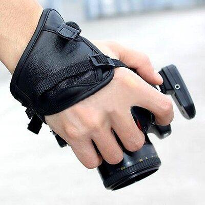 Fotocamera NYLON MANO Cinturino da polso in pelle CANON NIKON SAMSUNG Fuji Sony uzt