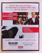 """DR WHO Advert BBC America PETER CAPALDI debut LARGE INDUSTRY AD 11x13"""" Promo"""