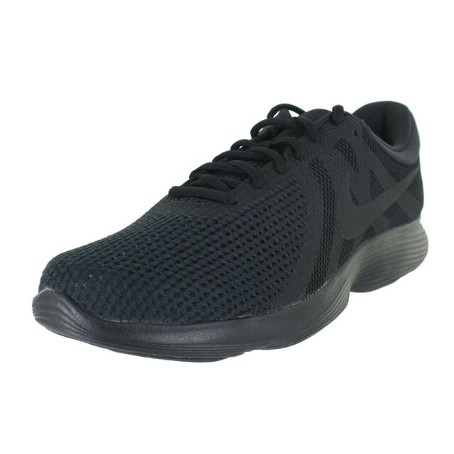 c91bdd462323 Nike Revolution 4 Mens 908988-002 Triple Black Athletic Running ...