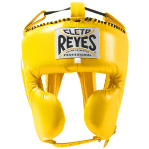 Cleto Reyes Classic Training Cheek Protection Boxing Headgear - Yellow