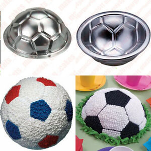 Football Cake Decorating Ideas How To Make : SOCCER BALL CAKE PAN Football Mould Mold Tin Sugarcraft ...