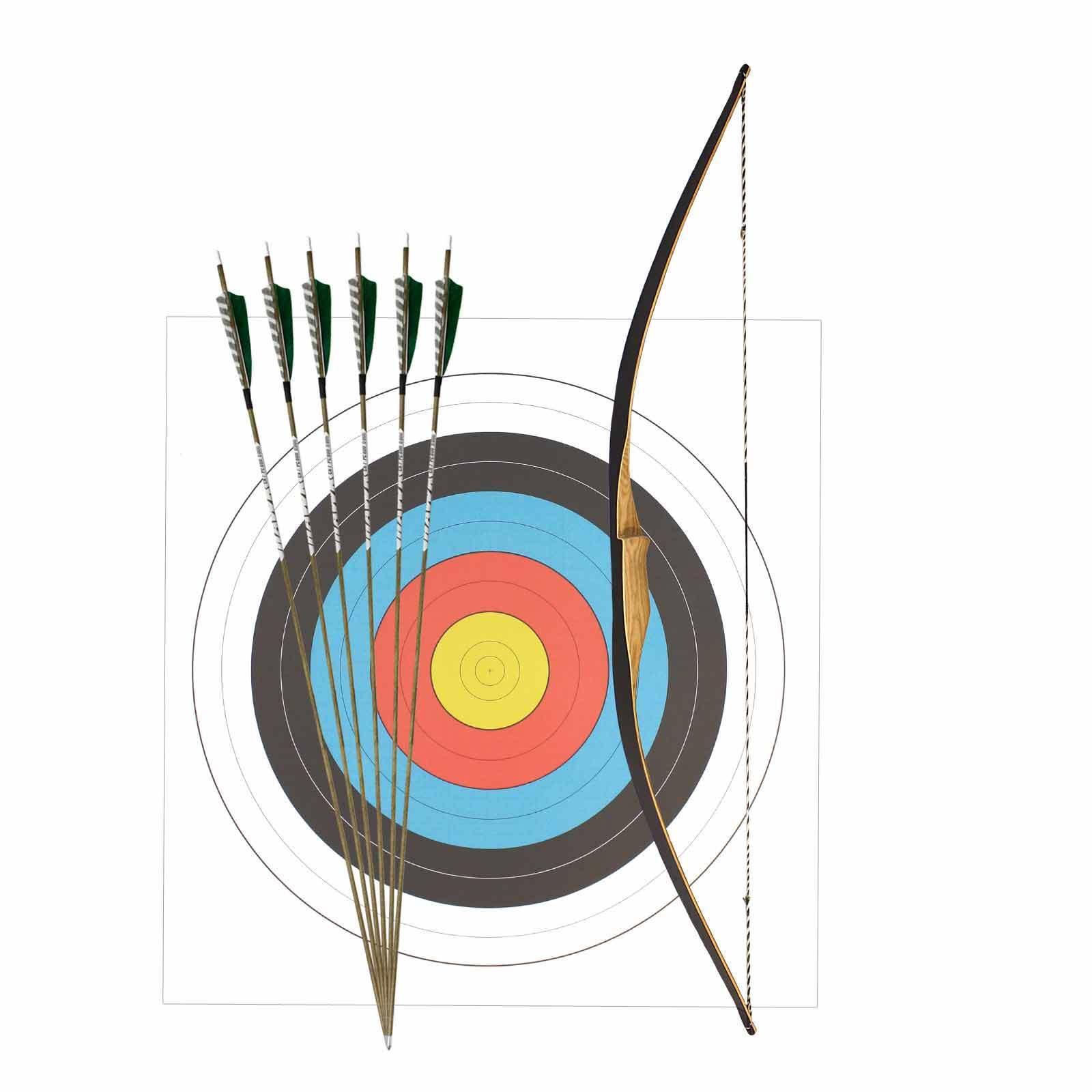 SET Ragim Langbogen Squirrel 56  (ca. 142 142 142 cm) + 6  Carbonpfeile Holzoptik 70b780