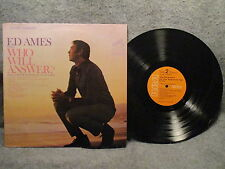 33 RPM LP Record Ed Ames Sings Who Will Answer? RCA Victor Stereo LSP-3961 VG+