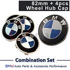 BMW Badge Emblem Bonnet Logo Hood Wheel Centre Hub Cap Set Fit E39 E46 E60 E38