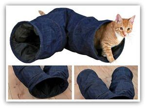 Cat-amp-Kitten-Play-Tunnel-Rustling-Jean-Denim-Look-30-53-cm