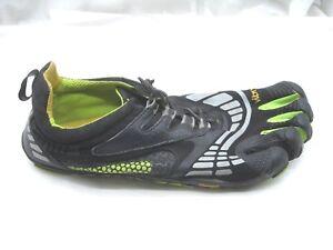 Vibram-Five-Fingers-black-green-water-mens-barefoot-running-shoes-45-12D-M3781