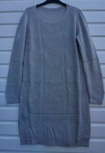 Women-s-New-ESPRIT-Long-Jumper-Dress-UK-Size-14-Grey