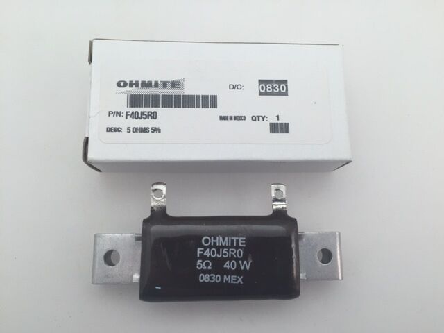 F30J10R Ohmite 30 Watt  10 Ohm  5/%, Stackable Wirewound Resistor,Chassis Mount