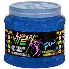 Super Wet Plus Maximum Hold Hair Styling Gel, Blue 35.30 oz