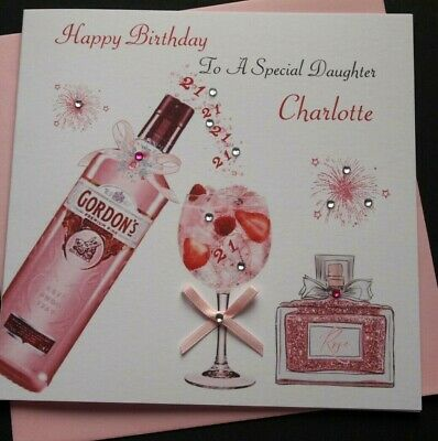 HANDMADE PERSONALISED BIRTHDAY CARD 18th 21st 40th DAUGHTER SISTER NIECE AUNT