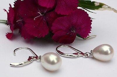 YR29 Zucht Süßwasser Perlen Schmuck Ohrringe Ohrstecker Ohrhänger 925 Silber neu