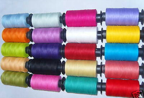 20 Different Colours 20-100/% PURE COTTON ALL PURPOSE THREAD Good Quality