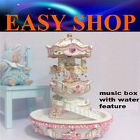 30cm Water Feature Music Box Carousel Merry Go Round Christmas Gift Birthday